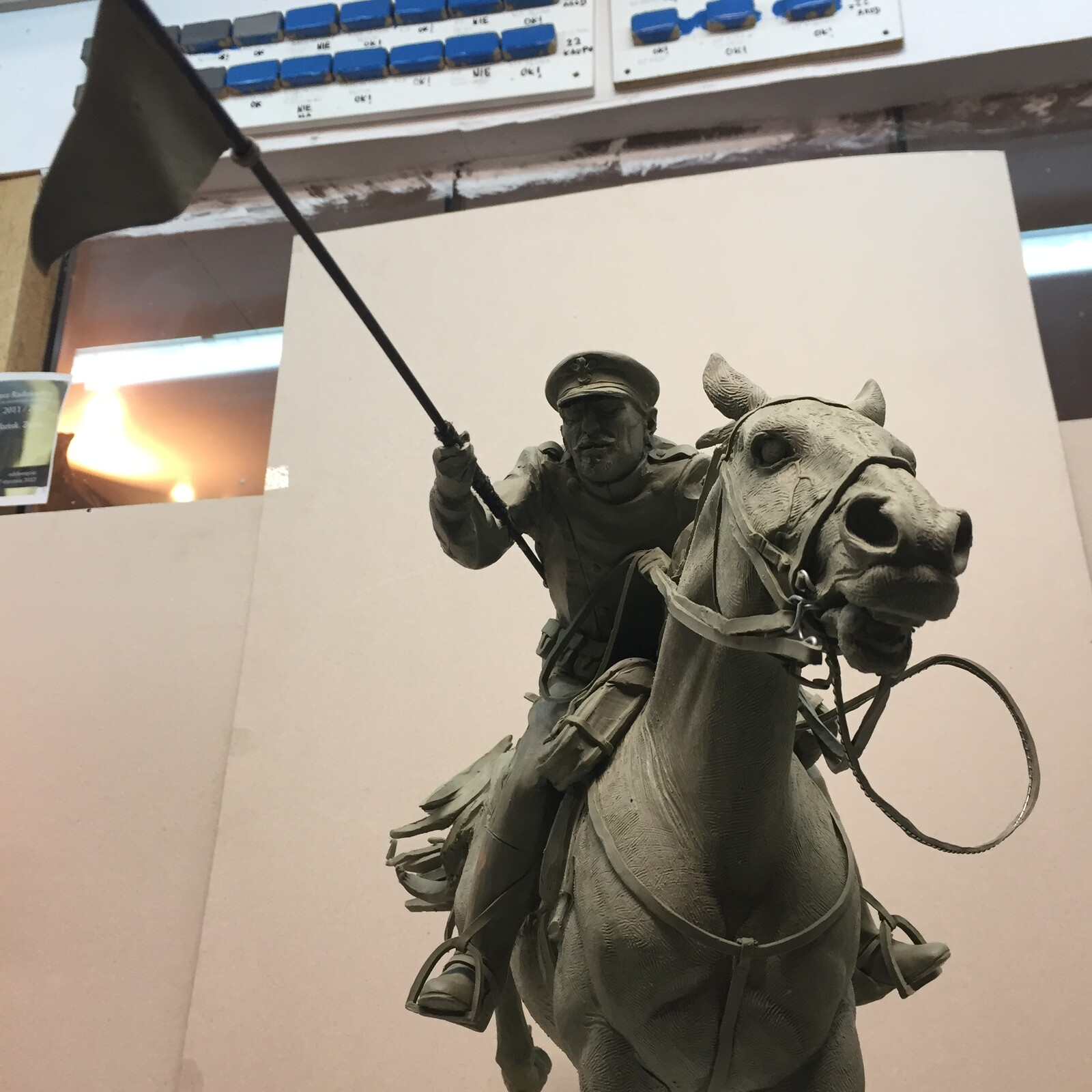 Monument the Polish cavalry.