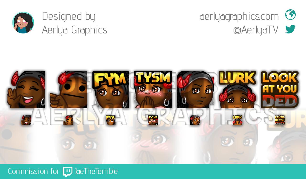 Aerlya graphics sample emotes jaetheterrible