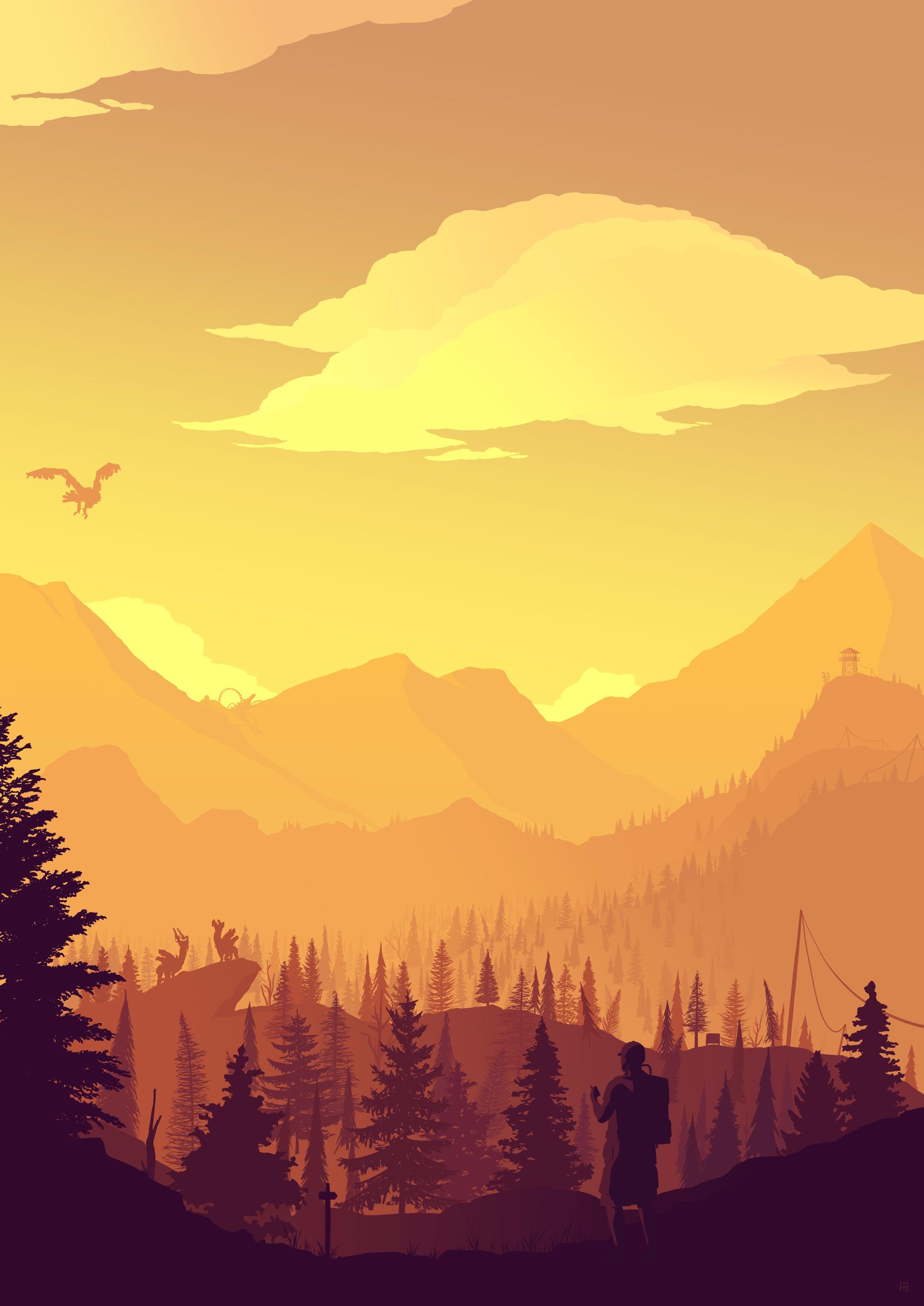 Firewatch Zero Dawn Digital 2D, october 2019