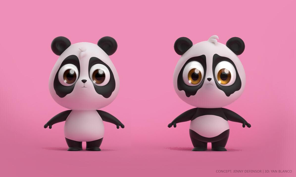 Jenny defensor pandinhas 3d