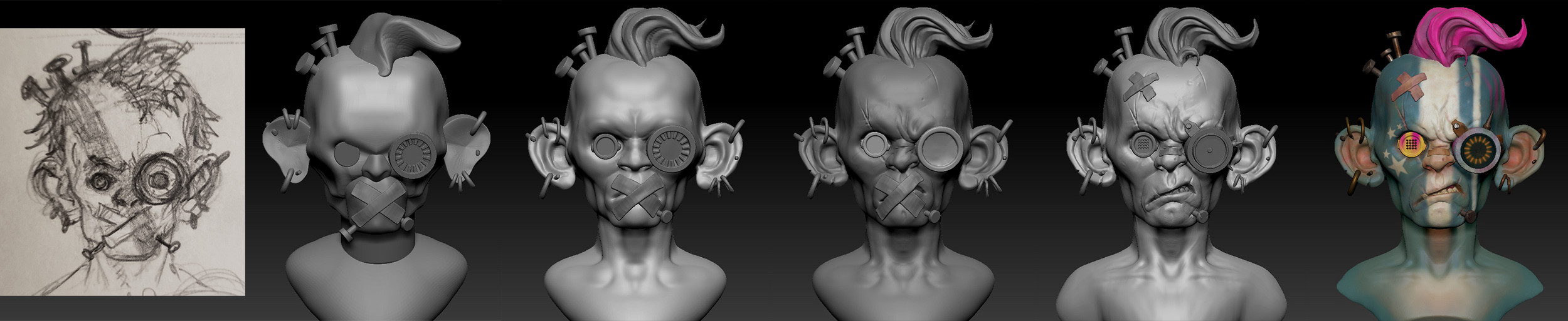 Zbrush 5day challenge steps