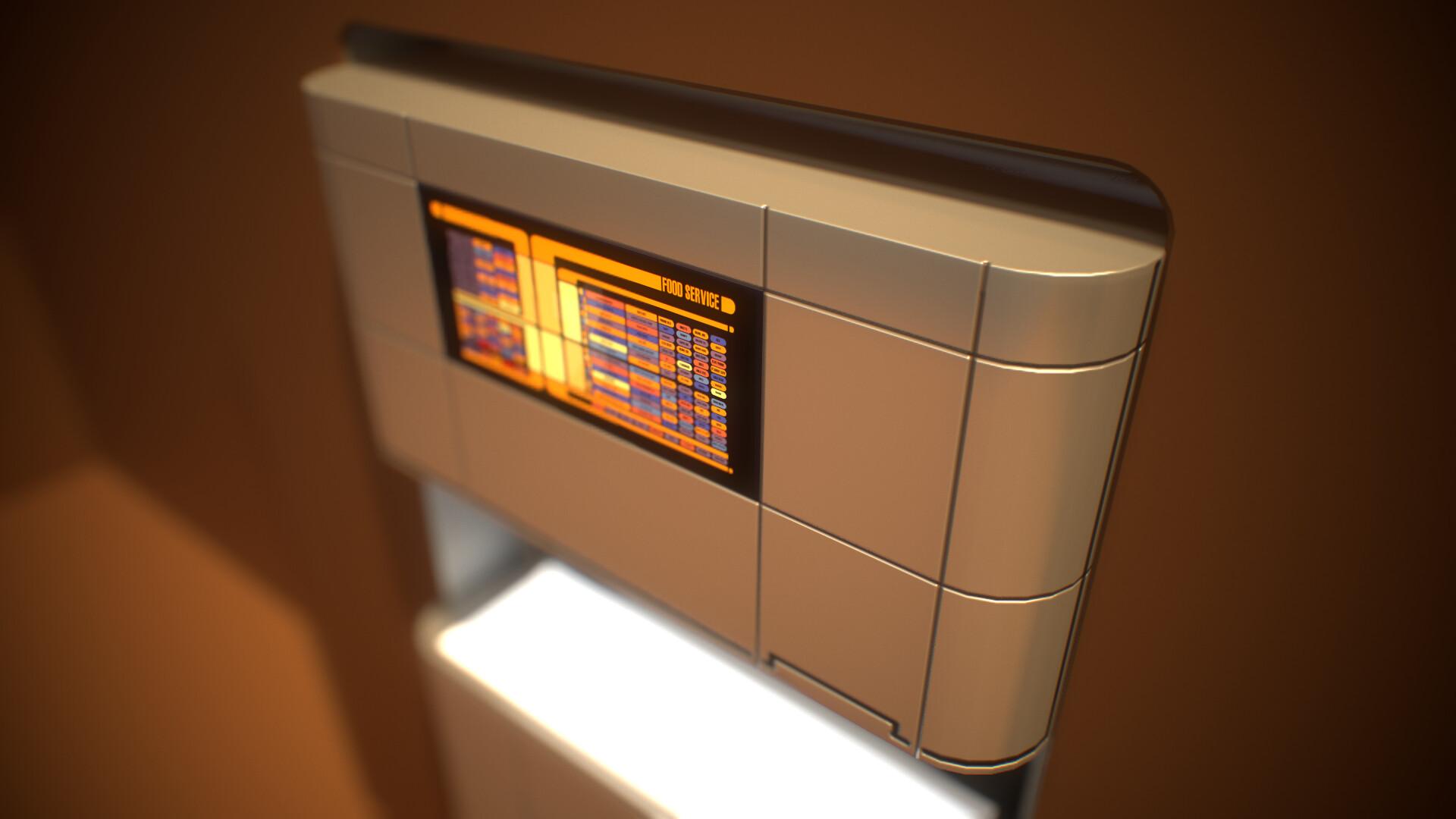 Star Trek Food Replication machine  lowpoly game prop asset Second Life