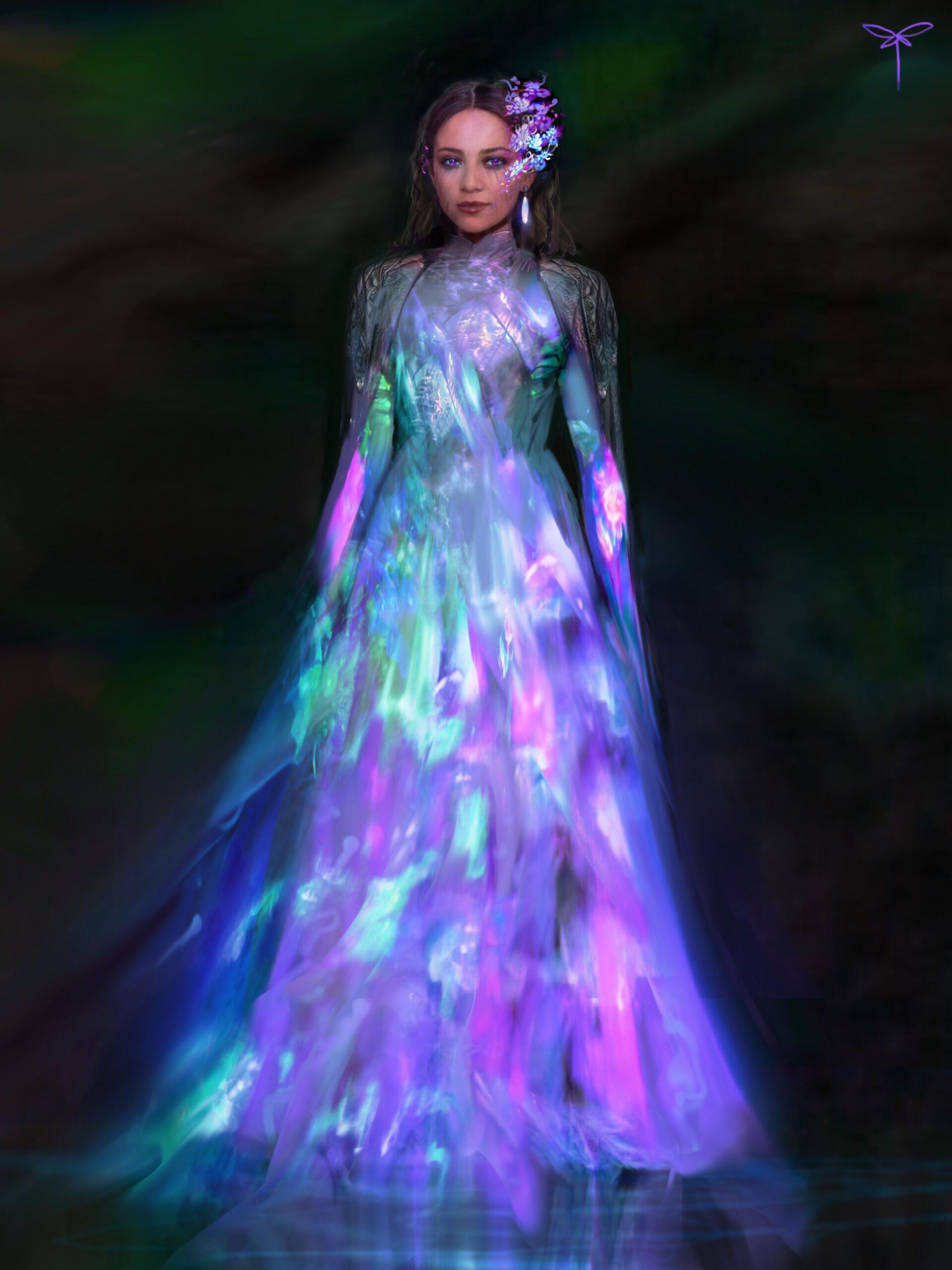 Holo dress costume design