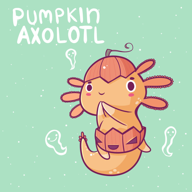 Danielle jones pumpkin axolotl small