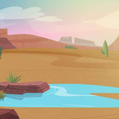 El Flamingo Environment Art
