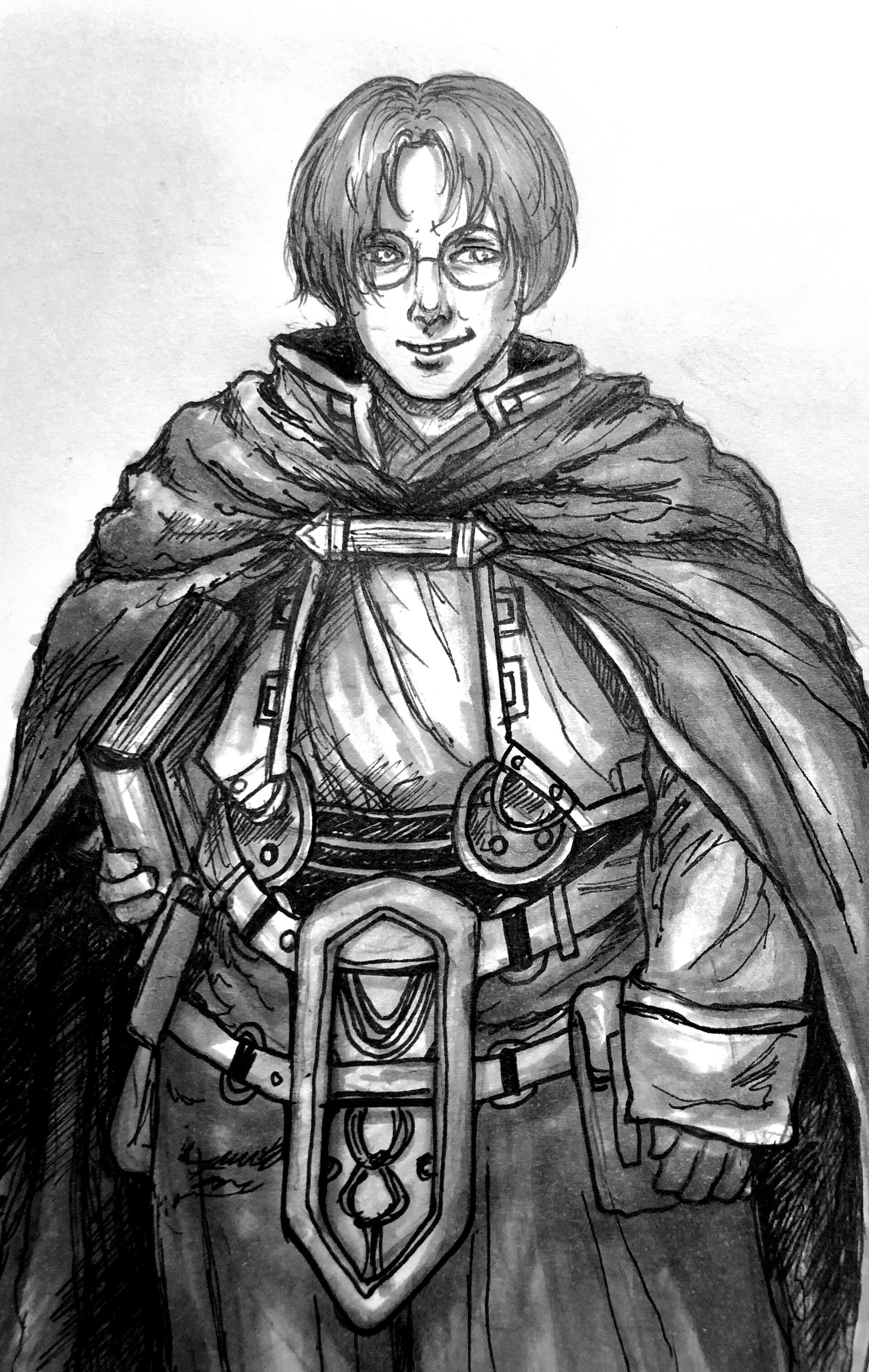 """Our Inktober prompt """"smug"""" - featuring Valkyrie Profile villain, Lezard Valeth."""