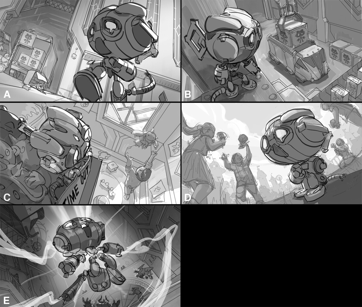 Amumu is a Hextech Toy so the initial idea explorations by Riot were based around that.
