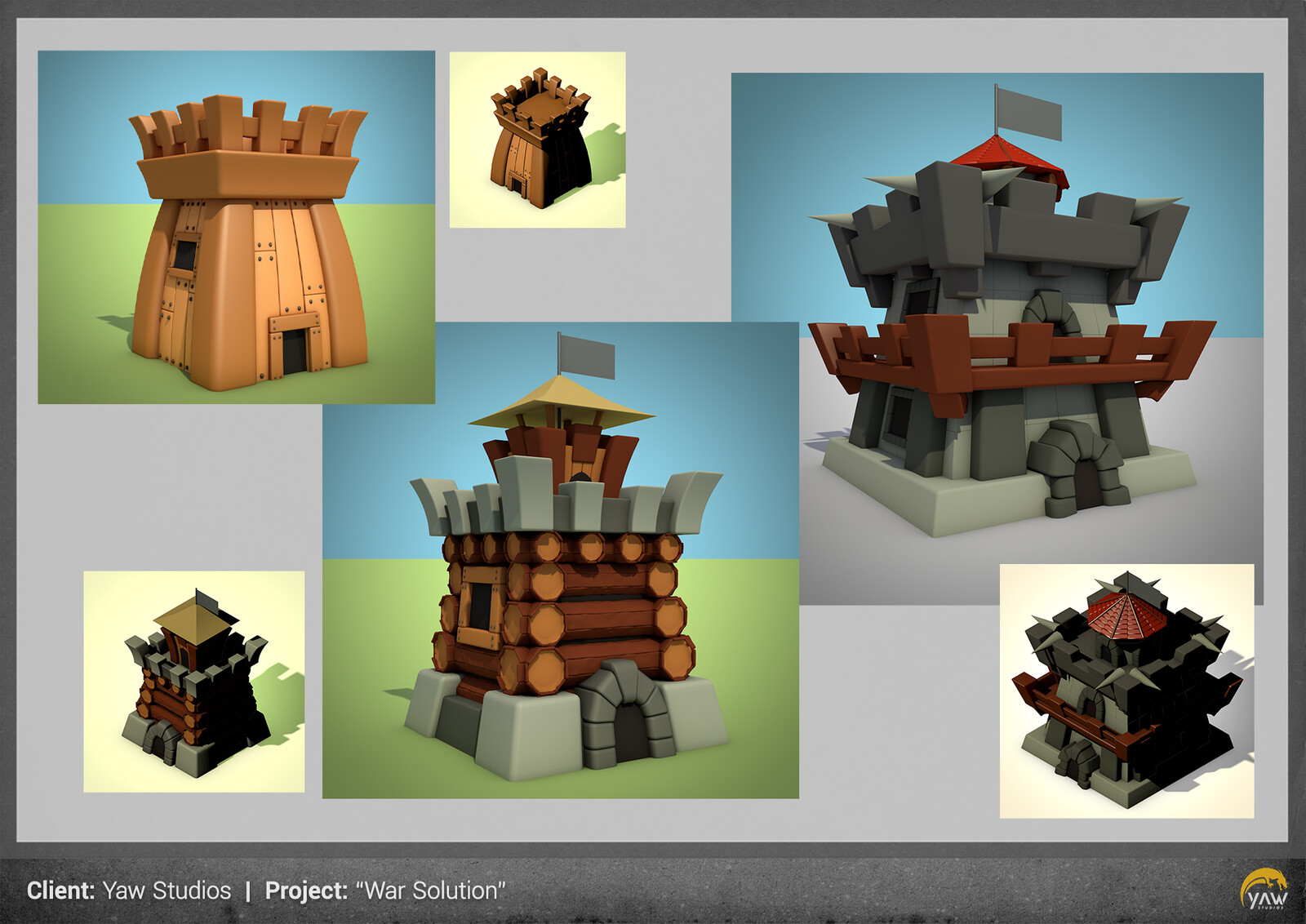 a few 3D modelling work over the approved concepts