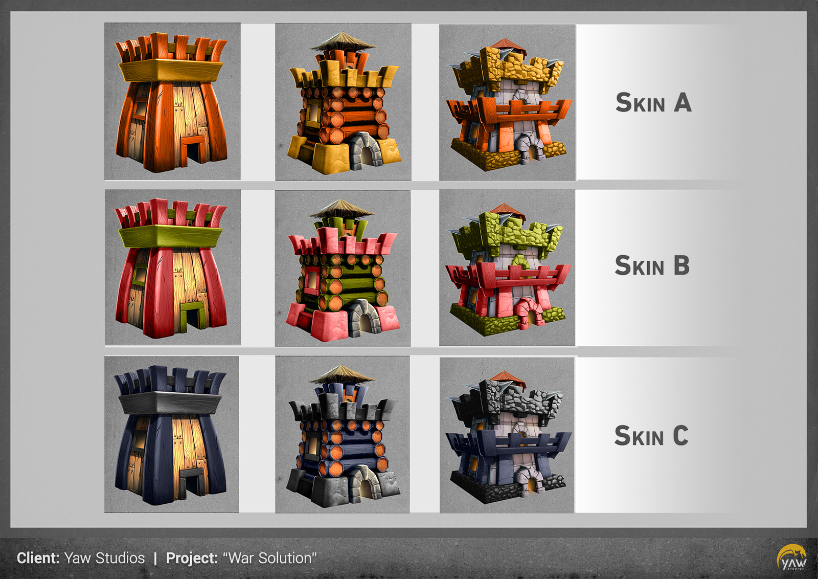 Here are a few skin options...