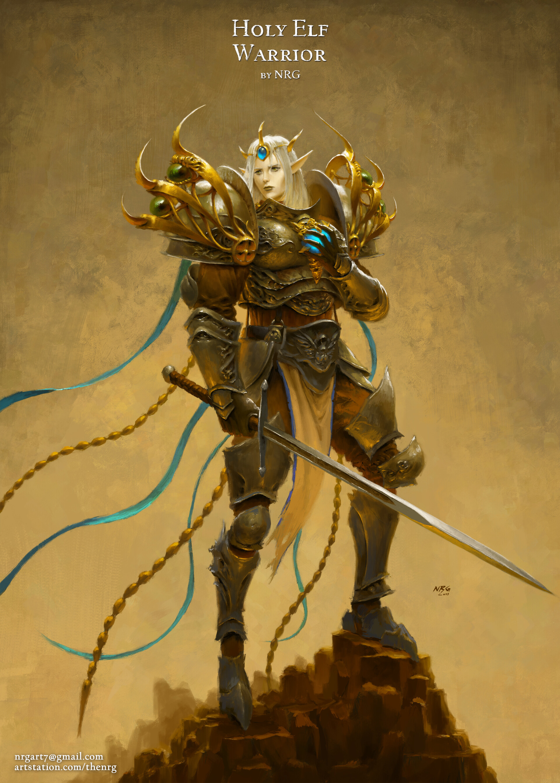 The nrg character design challenge 57 holy elf warrior by nrg web