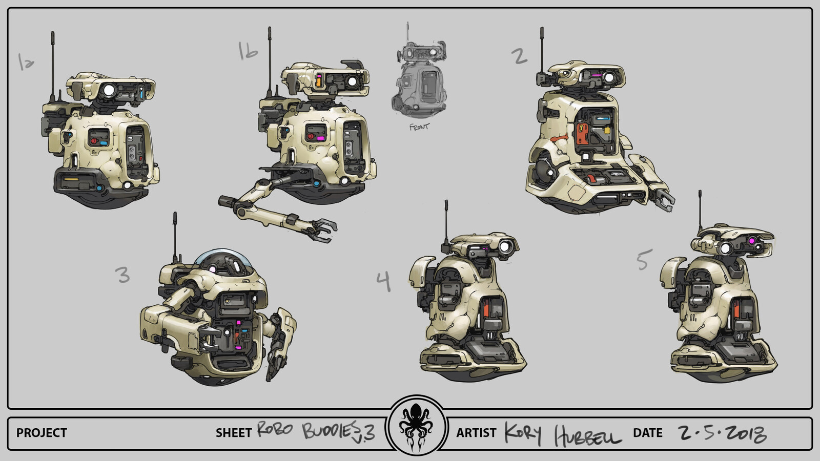 Robot Buddy Concept Sheets