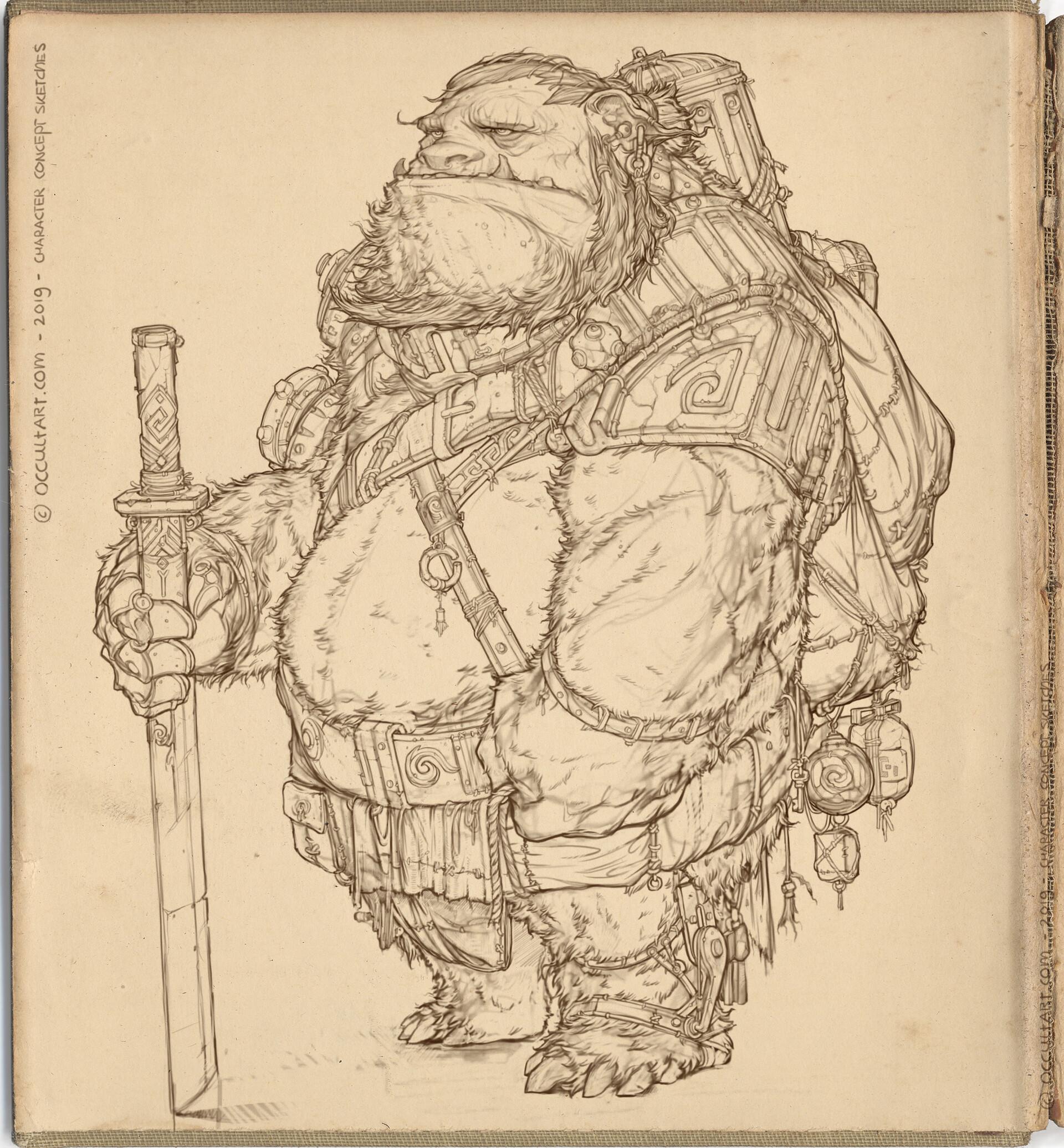 Occultart   occultart concept bear sketch a01 012 005 paper