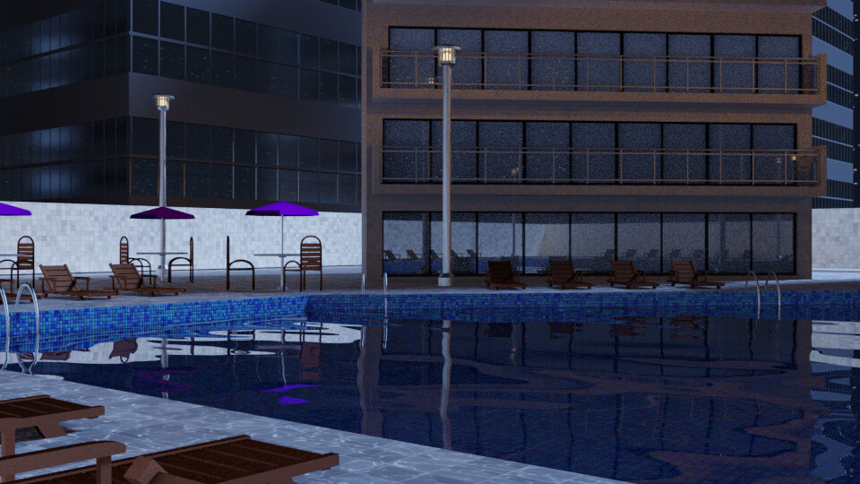 Pool at Night 5