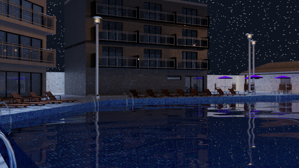Pool at Night 4