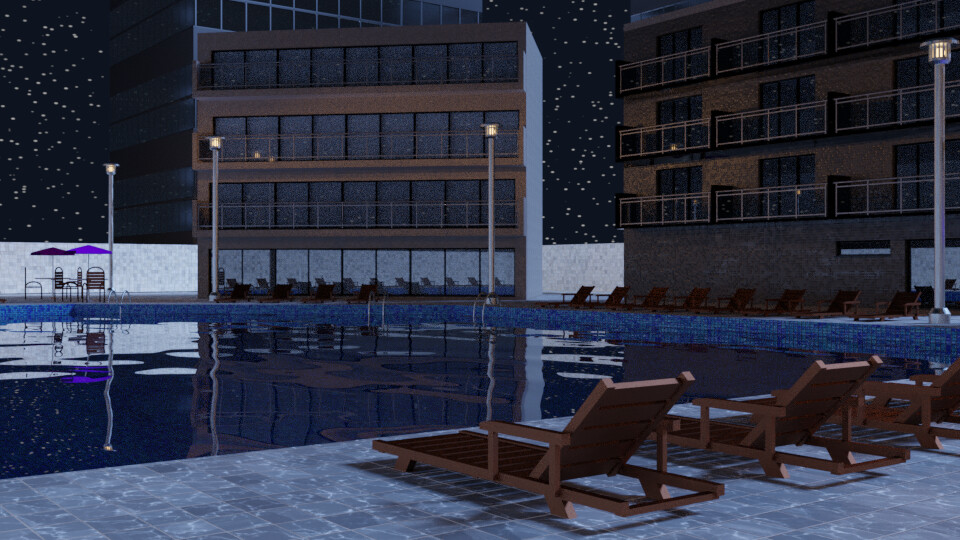 Pool at Night 3