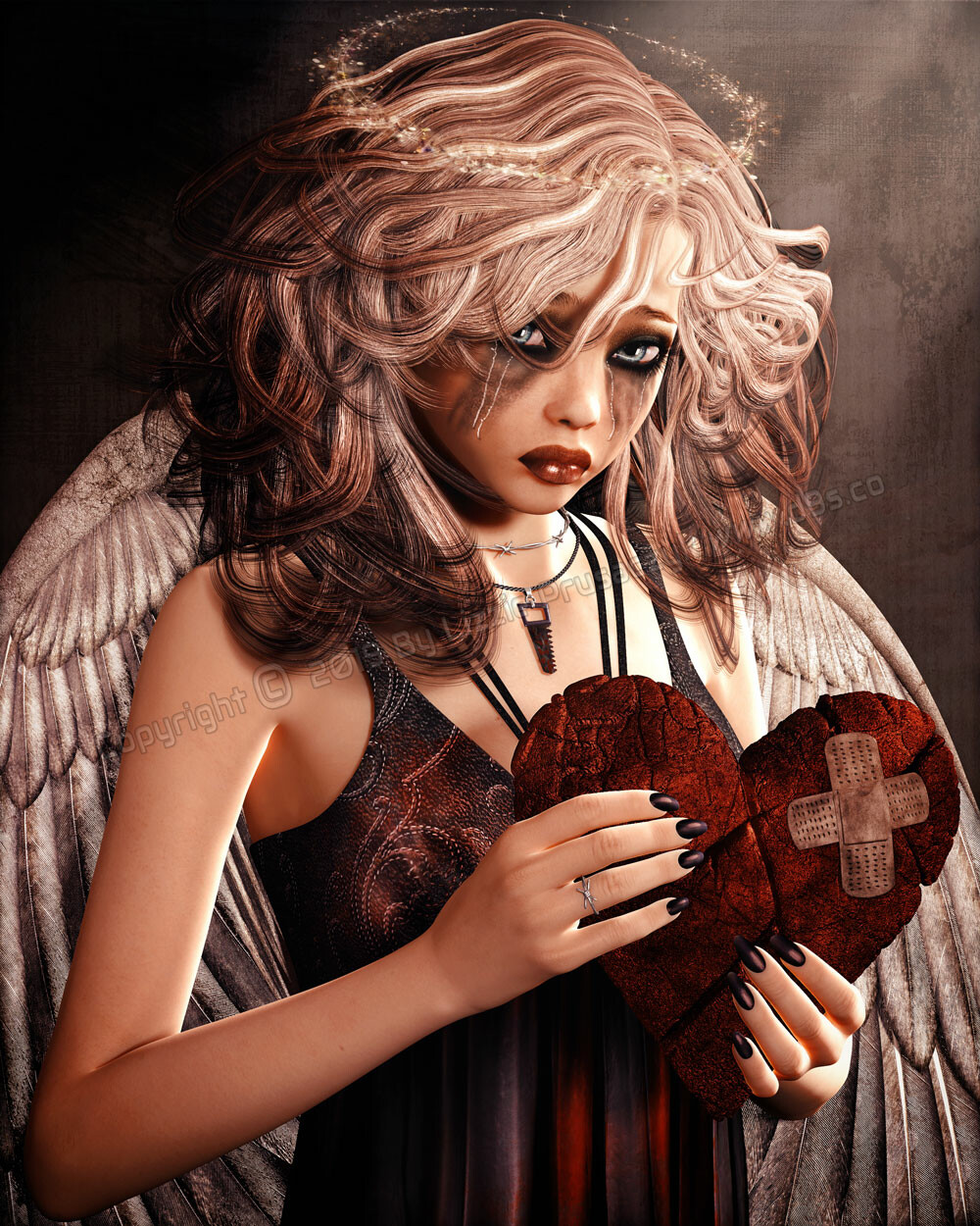 An innocent angel has had her heart broken. The pain is so deep that nothing hurts now as her heart begins to mend.