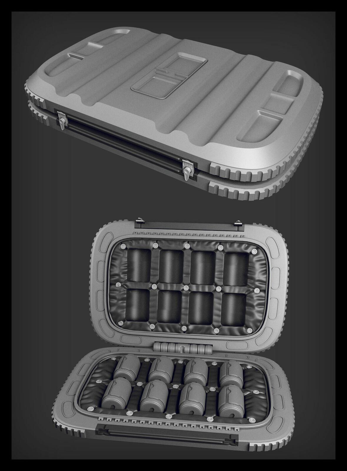 Grenade case.