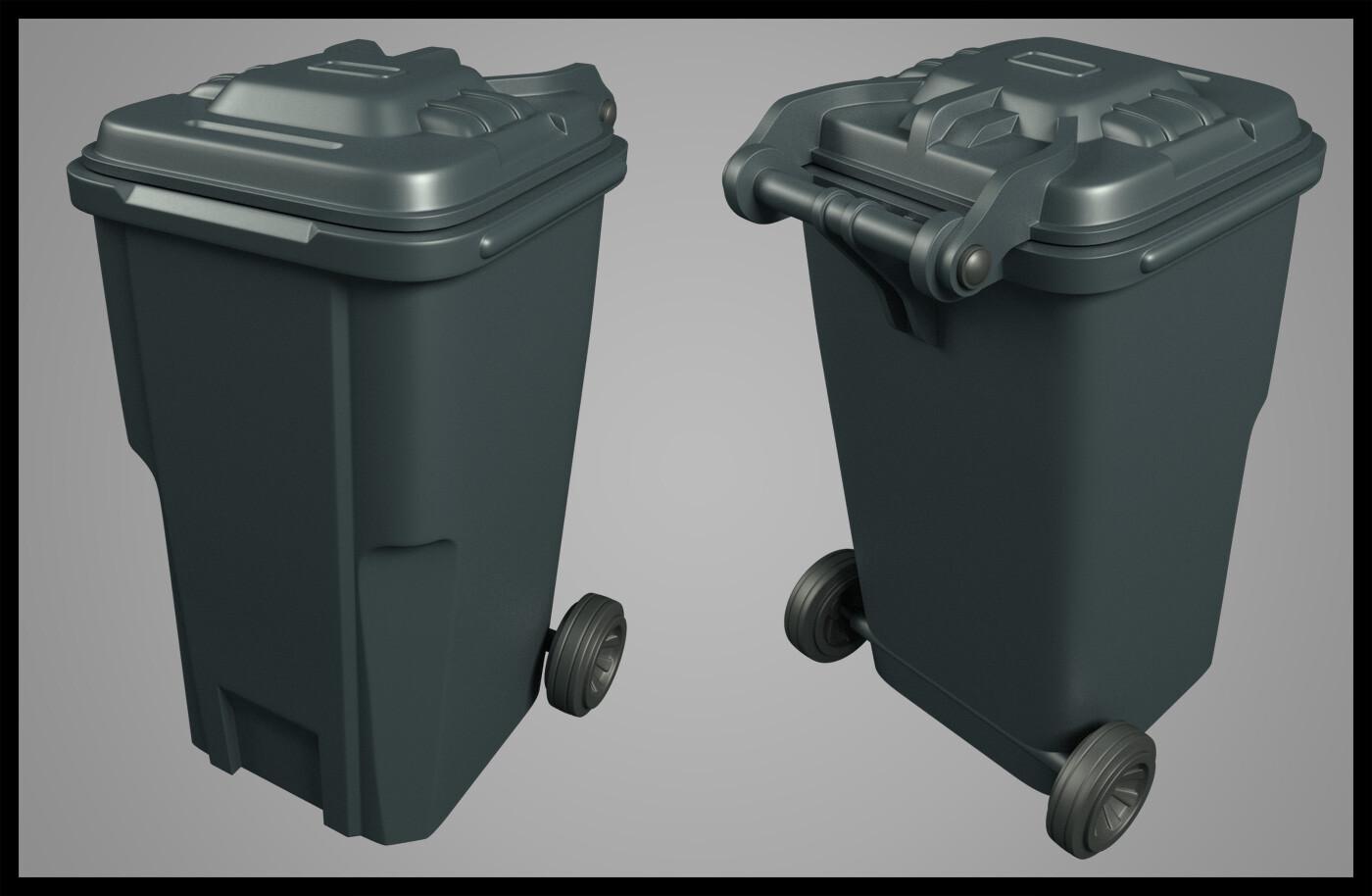 Trash can. 2% sci-fi, 98% reality.