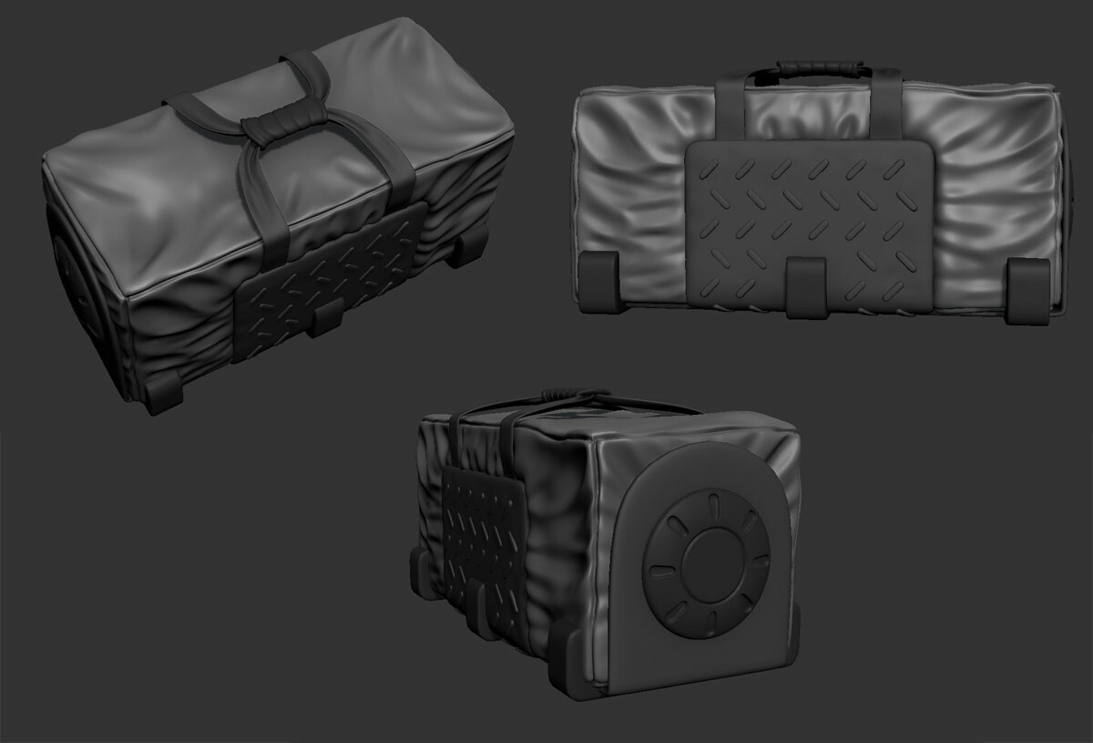 Duffel bag high poly.