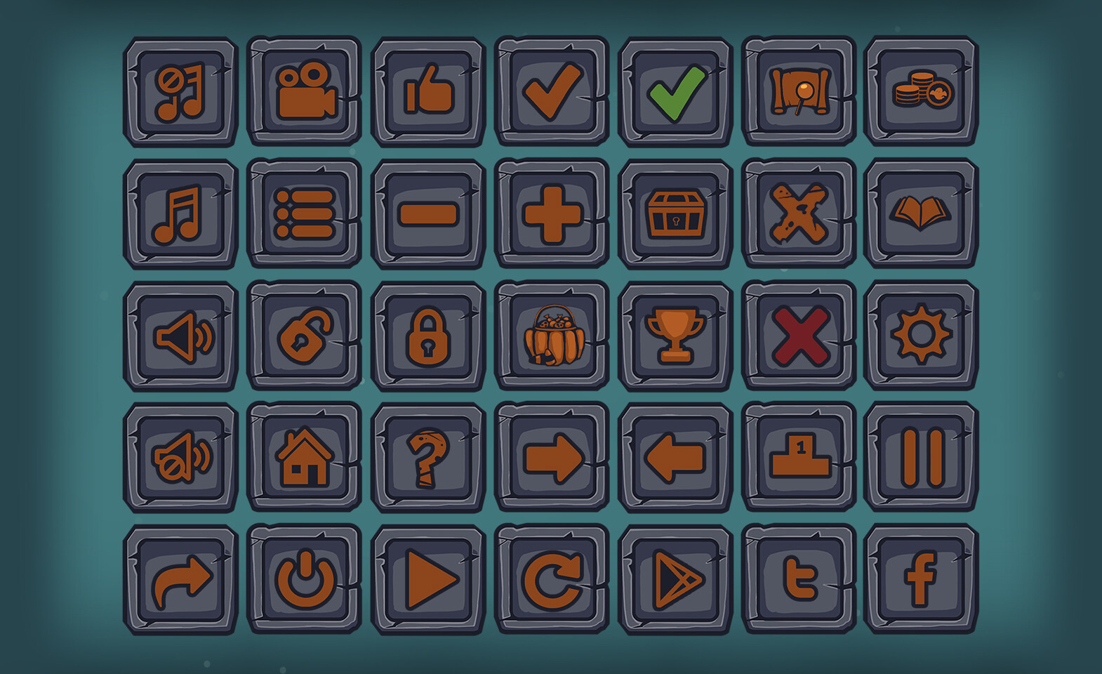 Moon tribe buttons square v1