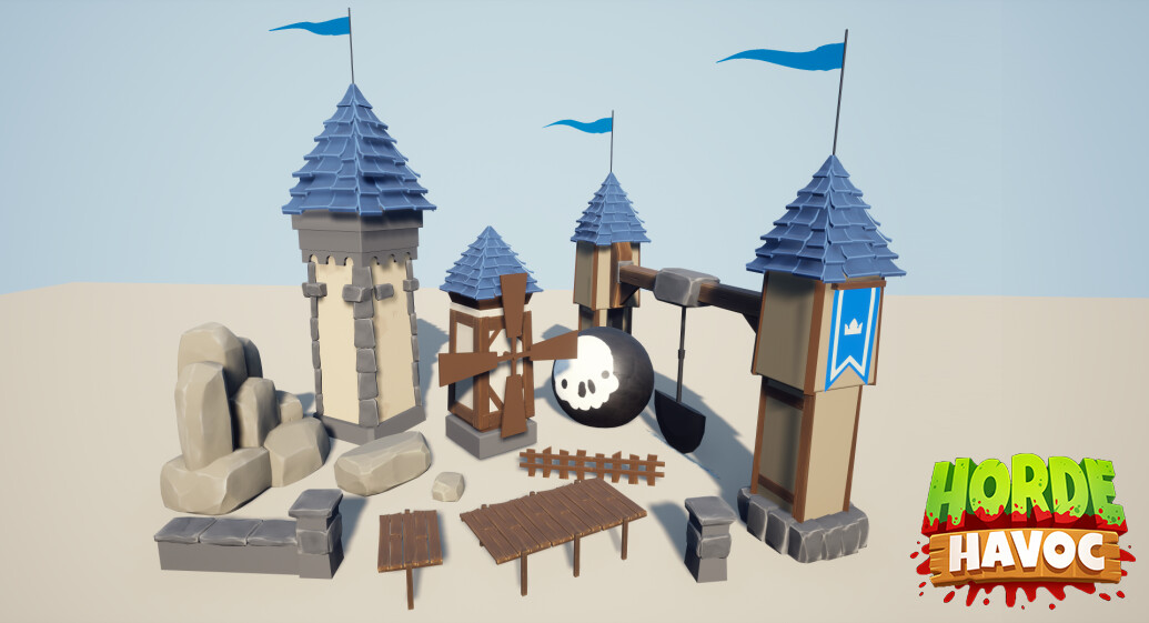 Some assets I made for the levels