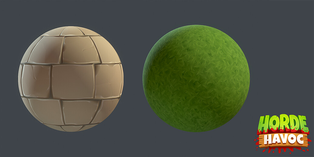 Materials I made for the buildings and the ground