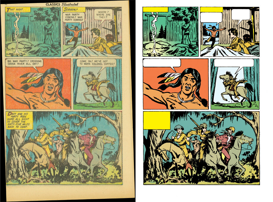 Digital restoration and colouring for Classics Illustrated. Art by Lou Cameron.