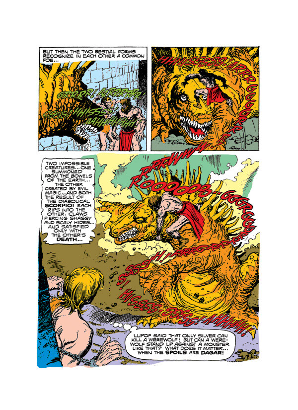 Digital restoration and colouring for Dark Horse/Dagar the Invincible. Story by Don Glutt, art by Jesse Santos.