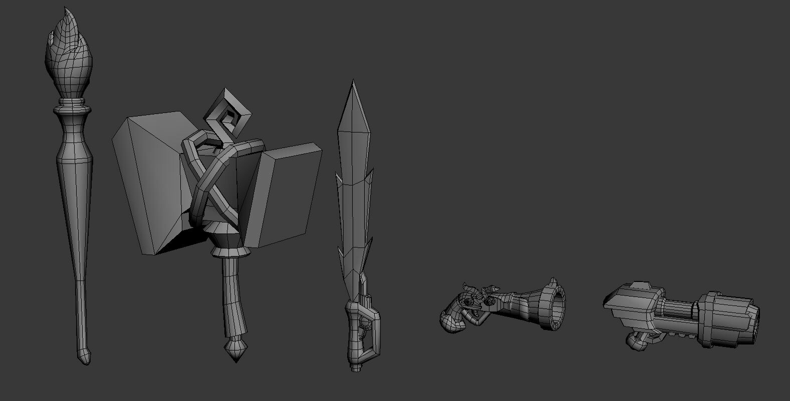 Unused Weapon models