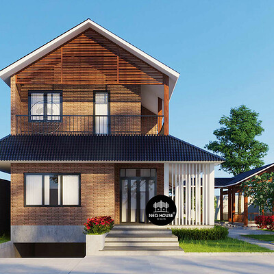 Neohouse architecture thiet ke biet thu san vuon dep 2 tang 1