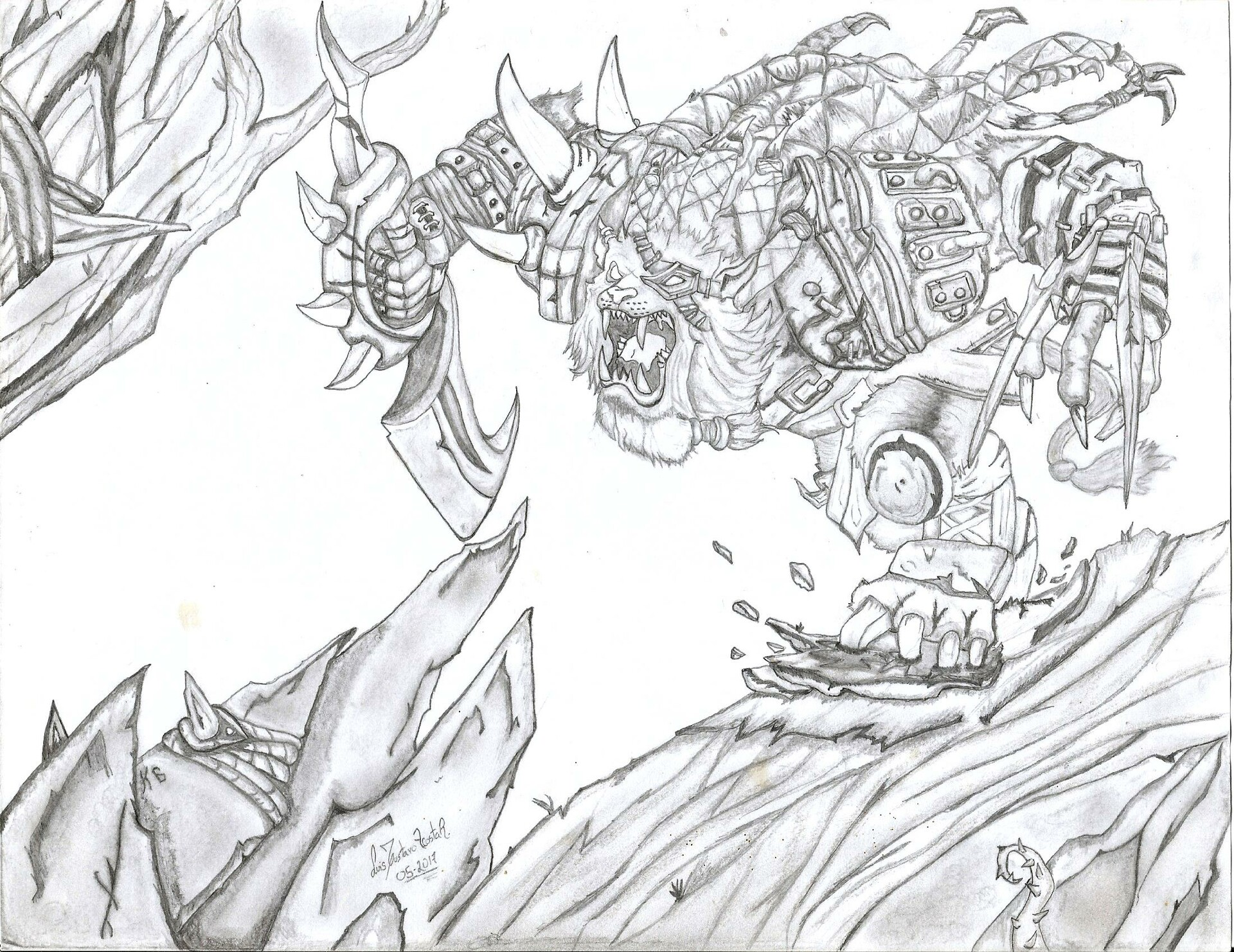 Artstation Rengar From League Of Legends Pencil Drawing Luis Gustavo 1024 x 1448 png 974 кб. rengar from league of legends pencil