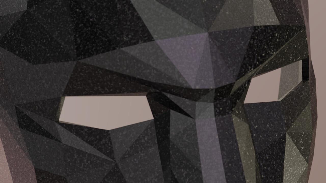 DESCONOCIDO Mask front render BLACK