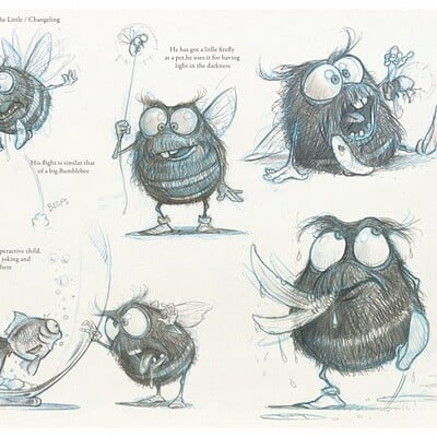 Sony picture animation- The changelin 2009 - Character design on early stage
