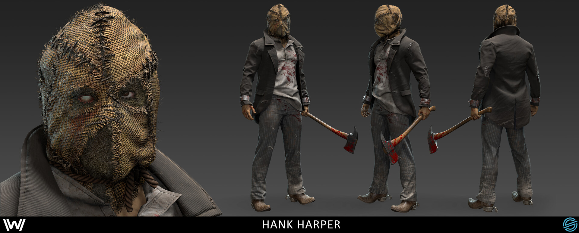 Damon woods hank full masked