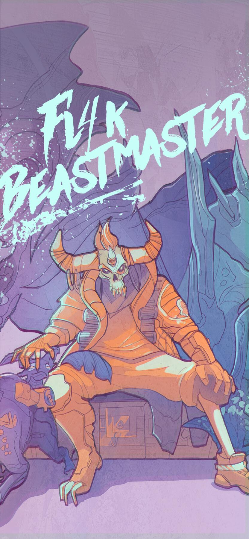 Robotic BeastMaster Fl4k (iPhone Wallpaper)