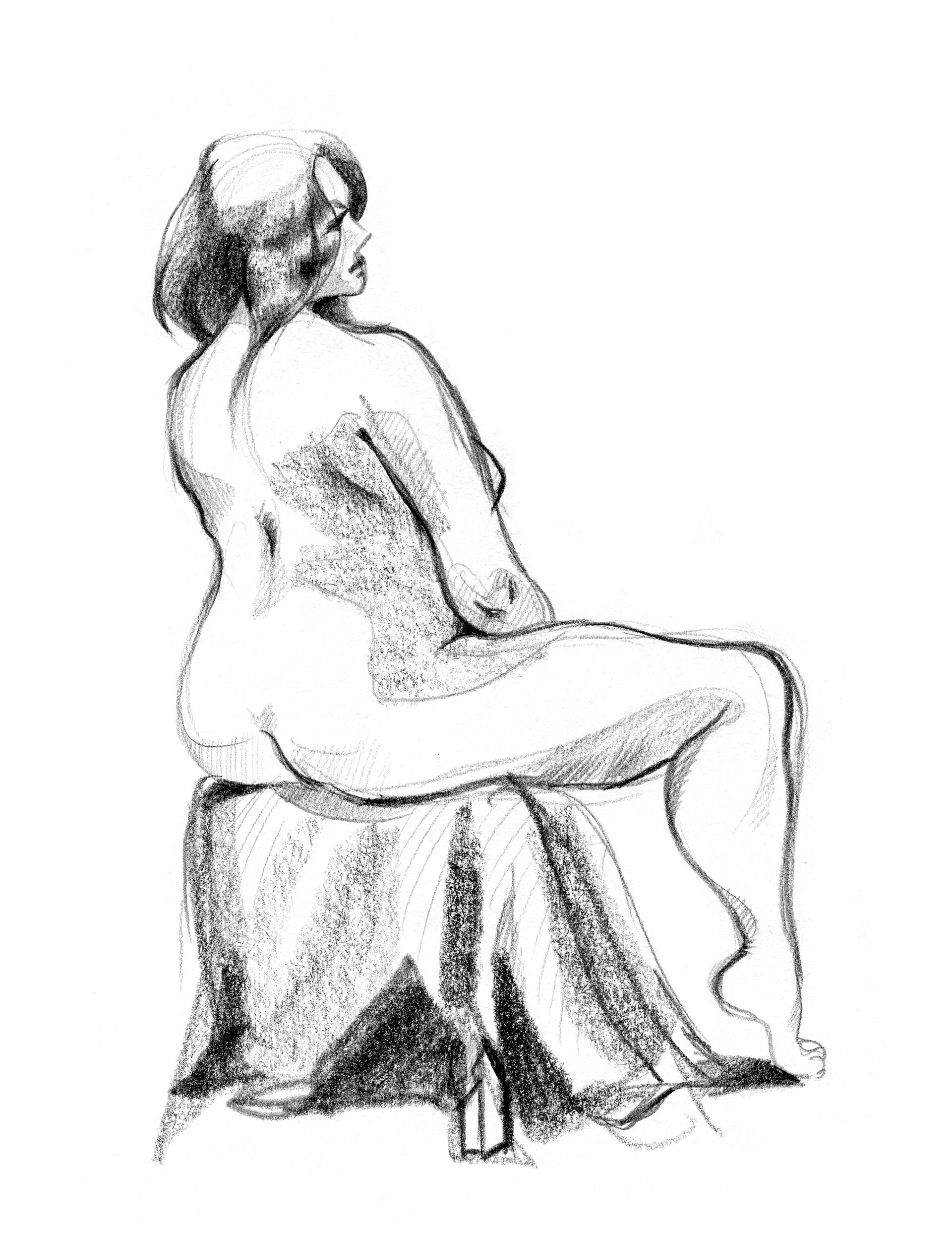 Elisa moriconi 4 10 ottobre sitting girl pencil 01
