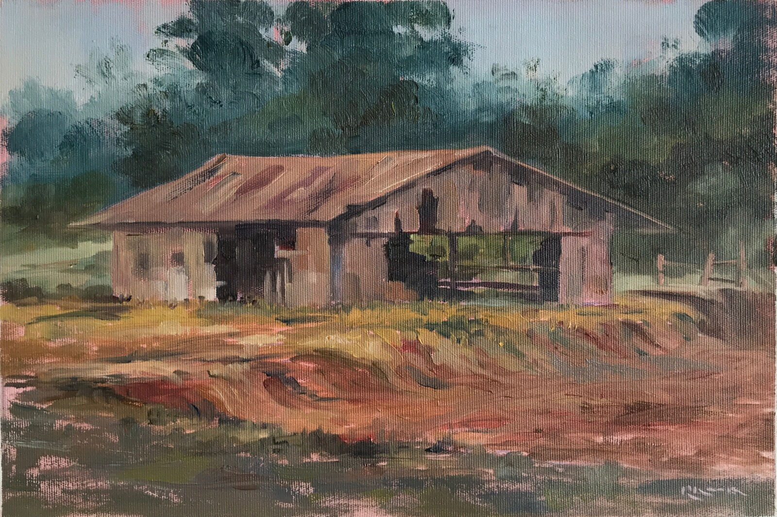 The old stockyard