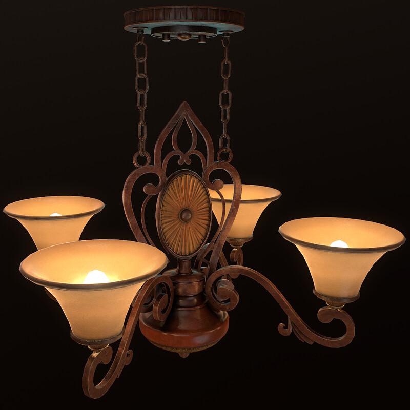 Ceiling Lamp (Part of Horror Living Room Asset Pack - WIP)