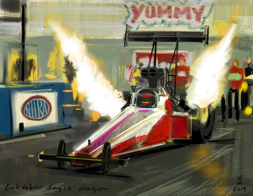 Dragster painting