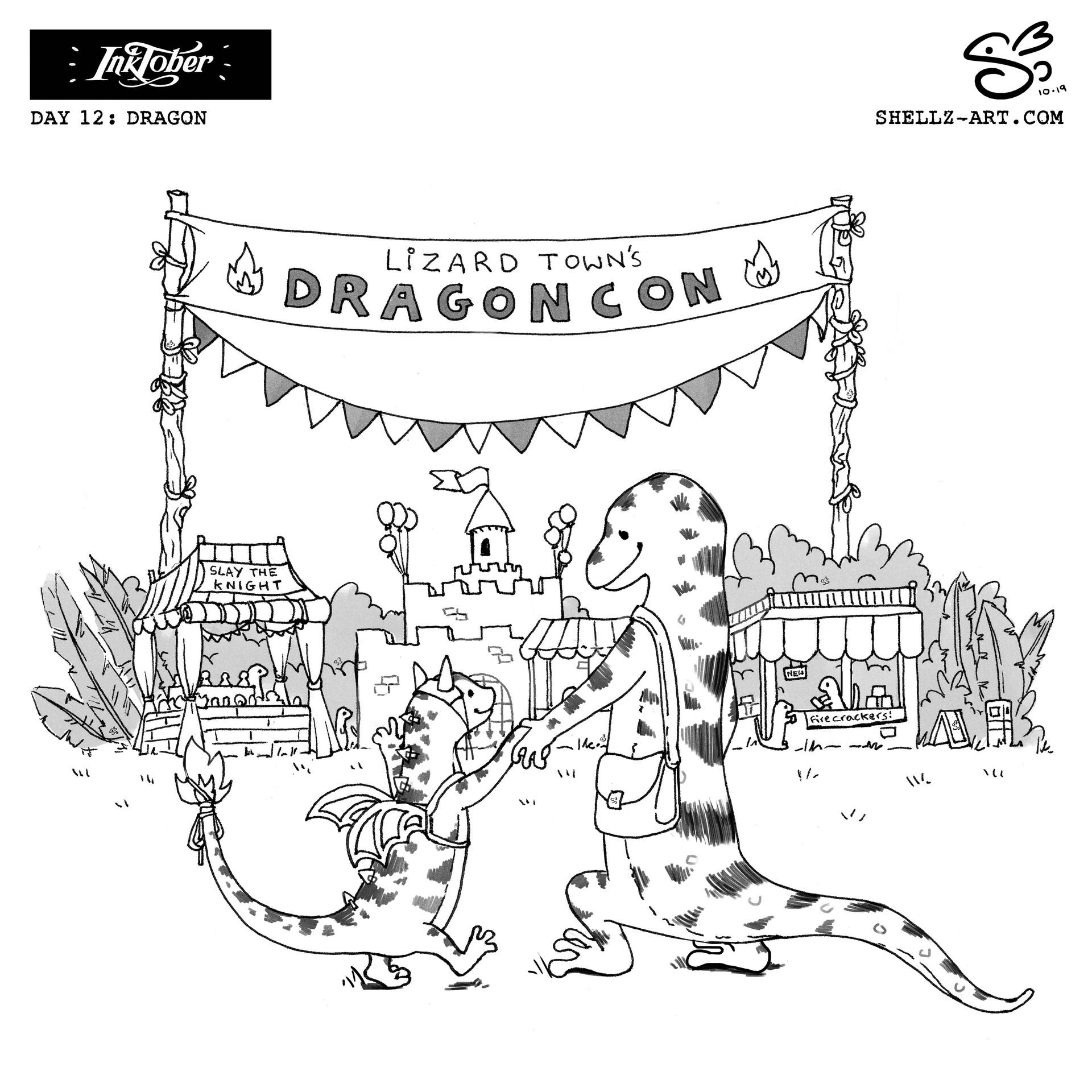 Shellz art inktober 2019 day 12 dragon