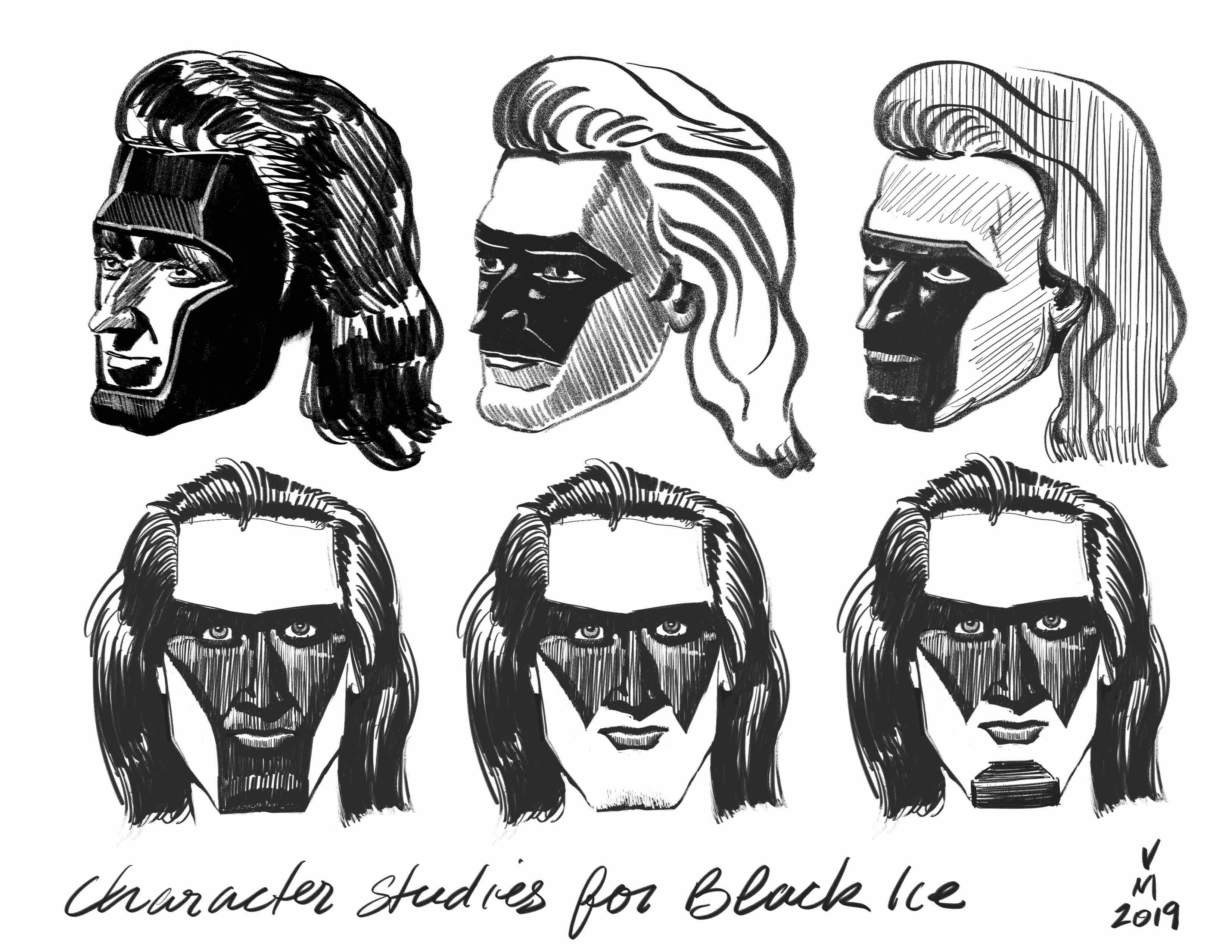 Character studies for black ice.