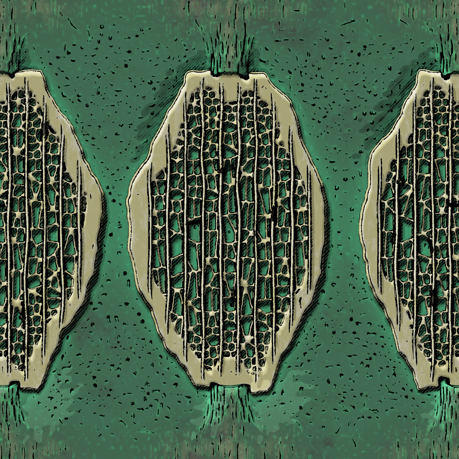 A cellular substance that I made a while back with the sketch effect blended in.