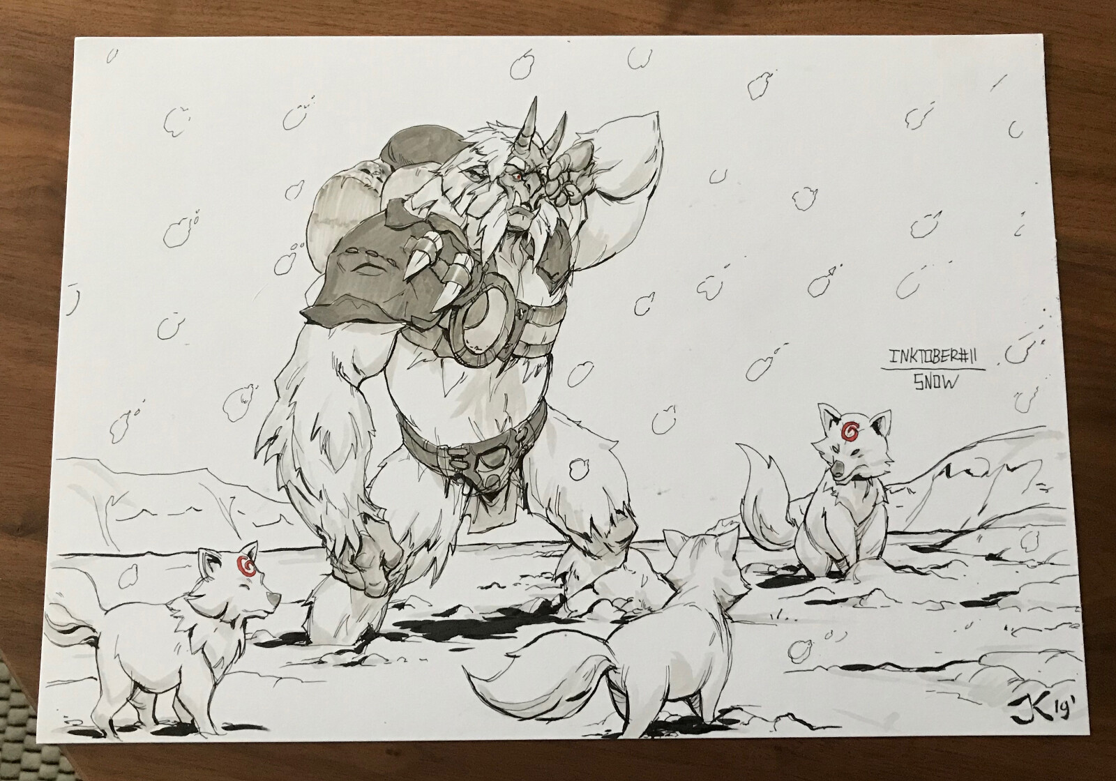 Jordy knoop day11 snow inktober2019 lr 2
