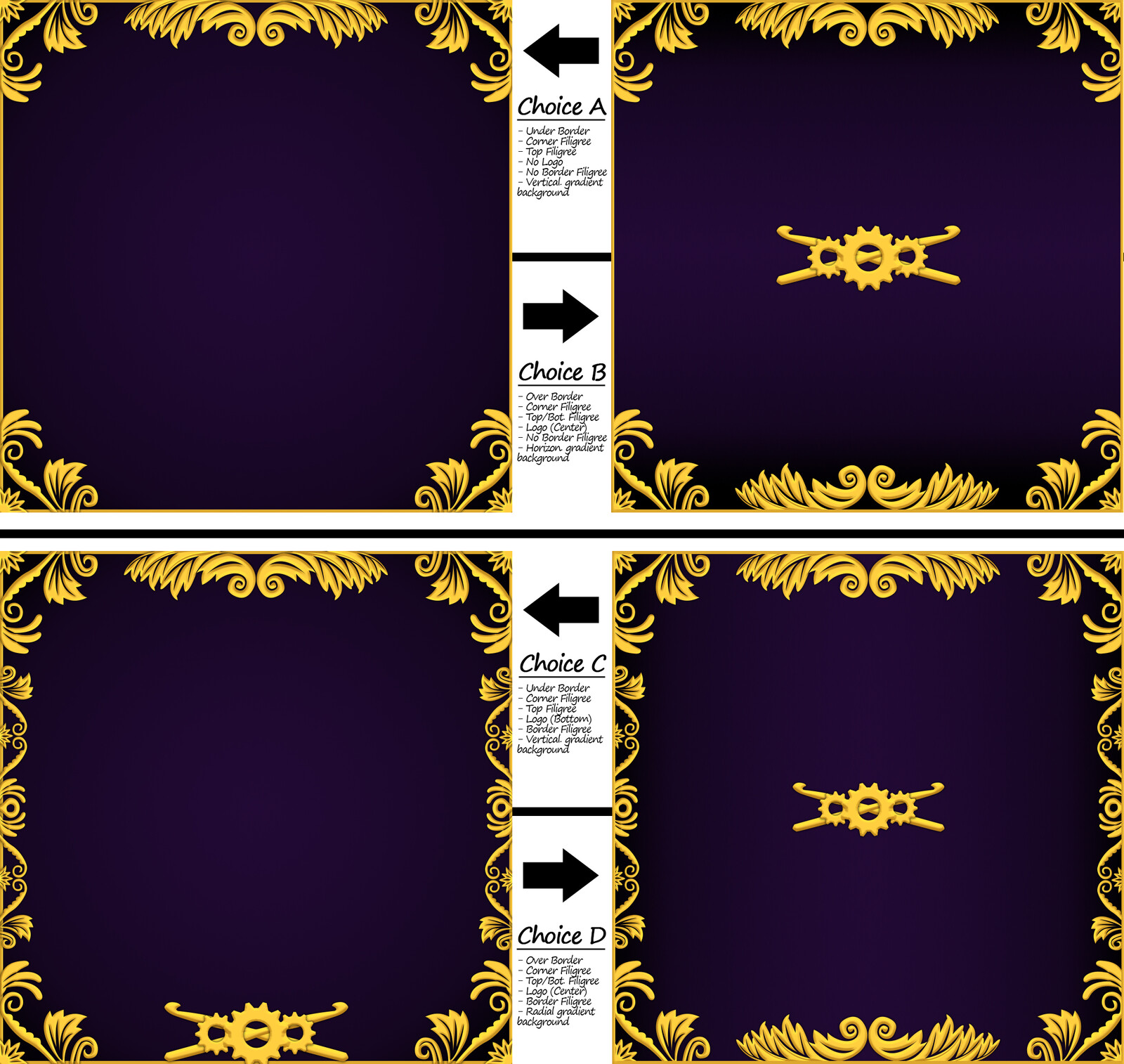 Various iterations of the receipt banner (early)