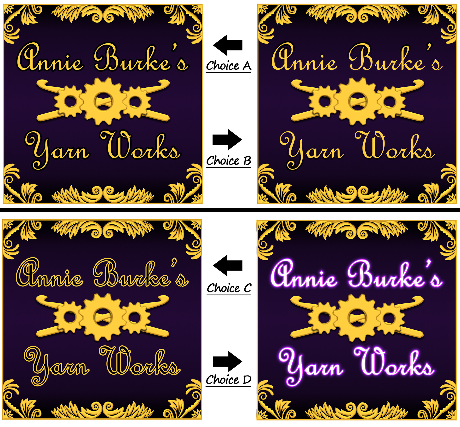 Various iterations of the receipt banner (last)