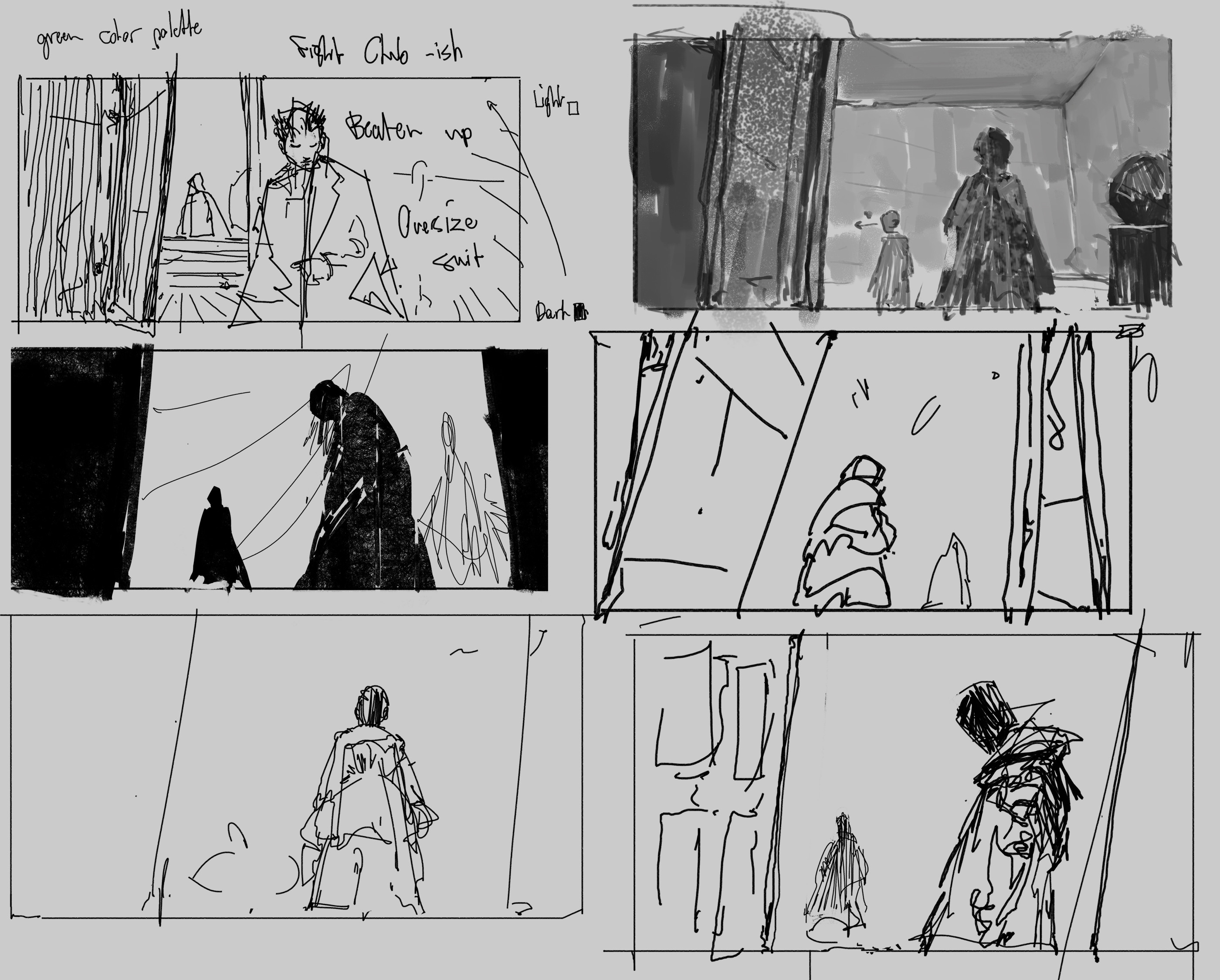 Early sketches and exploration