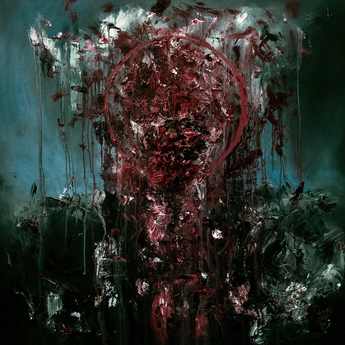 Blood Ritual (Oils). 100 x 100 cm.
