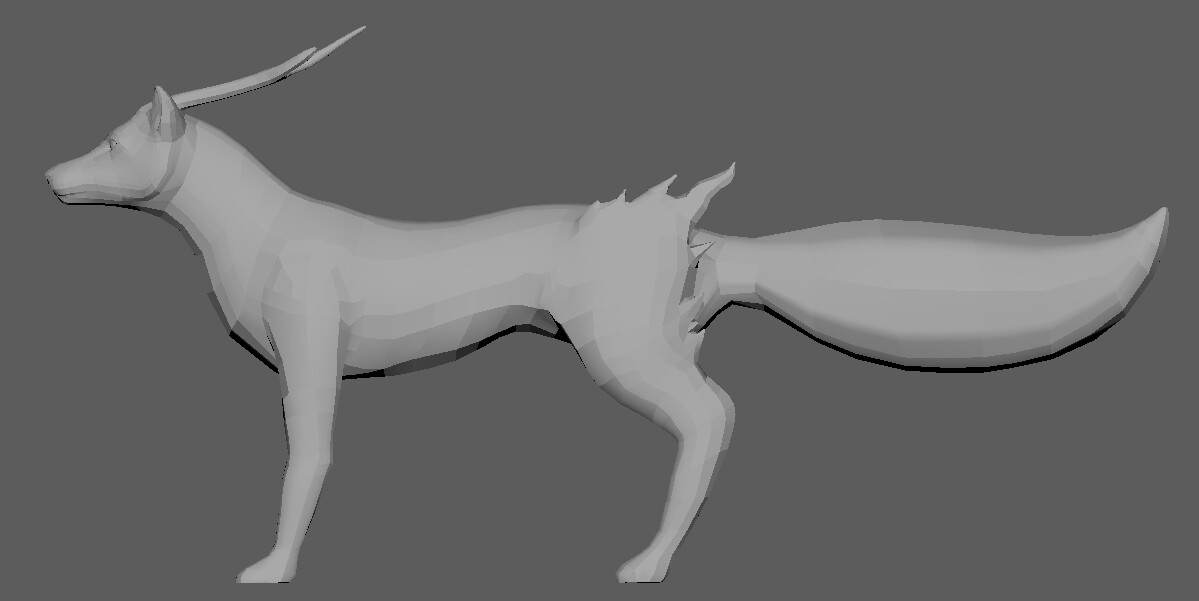 Side view. Poly count: 8588 tris.
