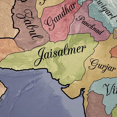 Arsalan khan aryavarta map