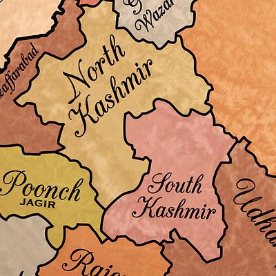 Arsalan khan jammu kashmir original map